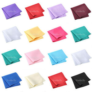 100PCS Linen Napkin Polyester Handkerchief Cloth Diner Wedding Party Supply