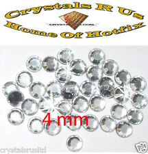 144 CLEAR ss16 4mm iron-on rhinestone crystals stones