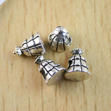 10Pcs Tibetan silver crafted tower spacer beads h1097
