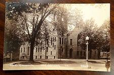 M.E. CHURCH 1st ST. MT. VERNON IOWA IA from 3rd Ave No. Photo Postcard ca.1910