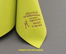 50 edel bedruckte Servietten mit NAME & DATUM für JUGENDWEIHE / KOMMUNION