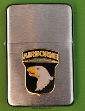 101st AIRBORNE DIVISION WIND PROOF PREMIUM LIGHTER IN A GIFT BOX  ARMY   LBC018