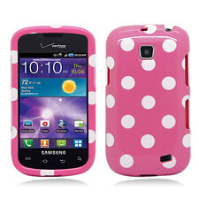 For Samsung Galaxy Proclaim SCH-S720C HARD Case Phone Cover Pink Polka Dots