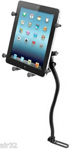 """RAM X-Grip Vehicle No-Drill Mount fits iPad, Other 10"""" Tablets w/Heavy Duty Case"""