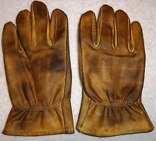 Leather Chopper Motorcycle Gloves Custom Finished: Red, Dark, Tan, Vintage Dirty