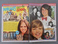 ►CLIPPING - COUPURE DE PRESSE : OSMOND  - 2 PAGES - 1975