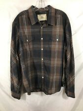 DKNY Jeans Mens XXL Long Sleeve Button Up  Plaid Checkered Shirt