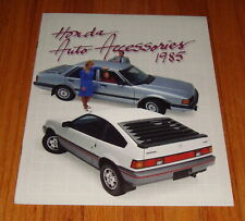 Original 1985 Honda Accessories Sales Brochure CRX Civic Accord Prelude