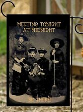 Flags Galore Decor & More- Meeting Tonight Witches Halloween Garden Flag…