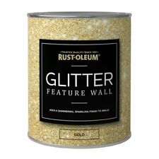 Rust-Oleum Super Sparkly Sparkling Gold Glitter Feature Wall Paint 1L