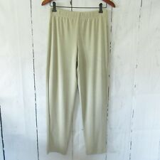 New Chicos Travelers Pants 0 XS X Small Beige Tan Essential Slim Slinky Pull On