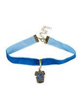 Harry Potter Ravenclaw Crest Logo Charm Pendant Blue Velvet Choker Necklace NEW