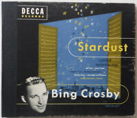 BING CROSBY - STARDUST - 4 X 10 INCH DISC DECCA 78 RPM RECORD ALBUM - VG+/BETTER
