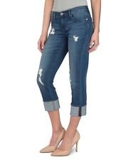 """New ROCK & REPUBLIC R&R Size: 4 """"OFF THE CHAIN"""" Kendall RIPPED Capri Jeans"""