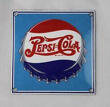 PEPSI COLA - 10x10 cm - Emailschild - Schild - Türschild - TOP - Emaille Schild