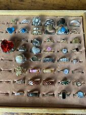 A1 Antique Lot Of 42 Vintage Costume Other Nice Ornate Rings