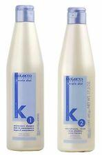 Salerm Cosmetics Keratin Shot Straightening Shampoo 500ml and Cream 500ml