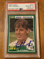 1989 Score Troy Aikman Dallas Cowboys Auto/Rookie Football Card!! Low Pop