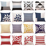 "18"" Geometric Cotton Pillow Case Waist Throw Cushion Cover Home Sofa Decor New"