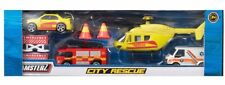 Emergency Vehicles 8 Pack Ambulance Helicopter, Fire, Rescue, Toy Cars Die Cast