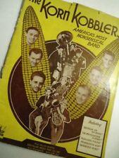 VTG Big Band 40s Sheet Music WWII The Korn Kobblers Band Radio rare photos bio's