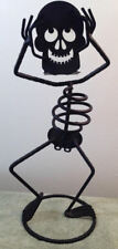 Tall Metal Skeleton Candle Holder Halloween Scary Ghosts Boo Ghoulish
