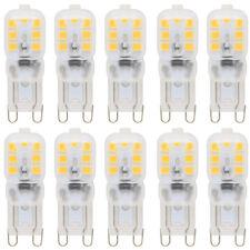 10x Dimmbar G9 LED Lampe 2.5W Warmweiß 3000K 14x2835 SMD mit PC Mantel