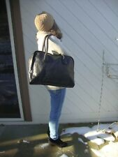 LORD AND TAYLOR BLACK TOTE BAG