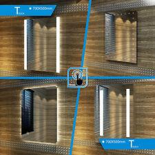 500x700mm LED Illuminated Bathroom Mirror DEMISTER Sensor IP44 Touch