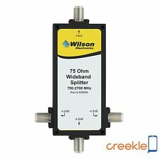 weBoost (Wilson)  859994 3-Way 75 Ohm Splitter, 700-2500 Mhz F-Female Connectors