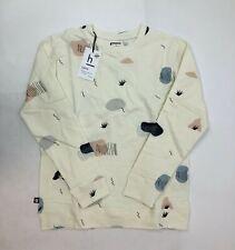 Hebe Girls Light Yellow Size 10-12 Small Print Pattern Sweater