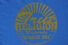 TRUE RELIGION Graphics T-Shirt XXL NWOT$ Signature Logo's! S/S Blue! TR Records
