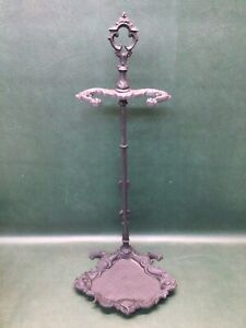 Antique Victorian Cast Iron Hall Tree Umbrella Stand or Fireplace Tool Stand
