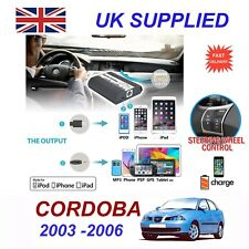 For Seat Cordoba iPhone 5 6 7 8 10 SE mp3 Aux Digital Audio CD Changer Module 8