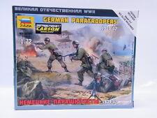 Lot 31860 Zvezda 6136 Allemand Parachutistes 1939-42 1:72 Kit Neuf Emballage