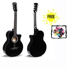 """38"""" noir guitare débutants étudiants adultes acoustique instrument musical cadeau nouveau"""