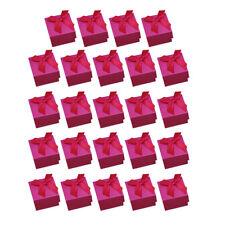 24 PCS carrés boîtes-cadeaux de bijoux bow-noeud boîtes en carton avec