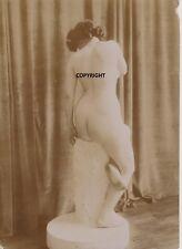 photo albumine1900 femme nue statue modele academie  grand format érotisme