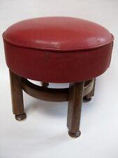 Vintage circular footstool 30s/50s