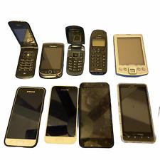 Lot 9 Phone Samsung Umx Motorola Lg Flip Nokia Blackberry Nec Untested 4 Parts