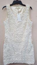 See U Soon Women's Dress Faux Fur With Faux Leather Trim Size L