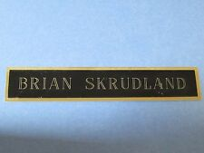 Brian Skrudland Name Plate Florida Panthers