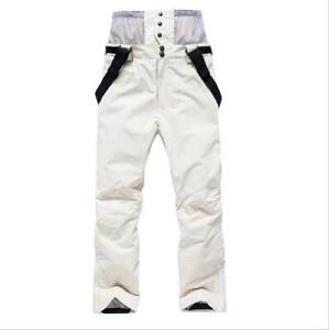 Men Women Suspenders Outdoor Sports Pants Waterproof Snow Snowboard Bib Trousers