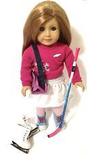 "Mia American Girl Doll Of The Year 2008 18"" w/ bag, stick, skates"
