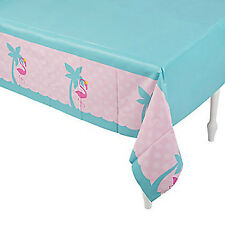 PINK FLAMINGO PARTY Table Cover Flamingos Theme Plastic Tablecloth Free Postage