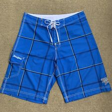 Billabong Boardshorts 33 Blue Swim Trunks Swimwear Velcro Pockets Lace Closure
