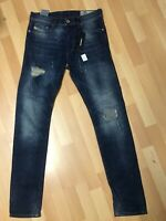 Mens Diesel TEPPHAR RIPPED Stretch Denim 084TX DARK Blue Slim W29 L32 H6 RRP£150