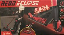 Yvolution Neon Eclipse Stunt Scooter 360 Deg Spin 220 Lbs Max Age 5+ Red Black