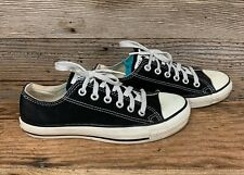 Vintage Converse All Star Low Black and White Made in USA OG Authentic Sz 5