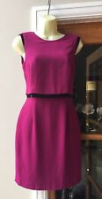 Spotlight By Warehouse Fuschia Pink Dress With Bead Detail Deep V Back Size 6